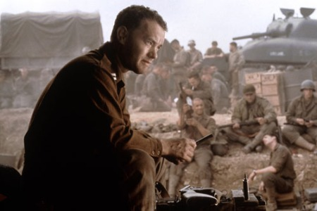 Tom Hanks in a scene from SAVING PRIVATE RYAN, 1998.